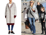 Heidi Klum's Elizabeth and James Yeti Shawl Cardigan Coat