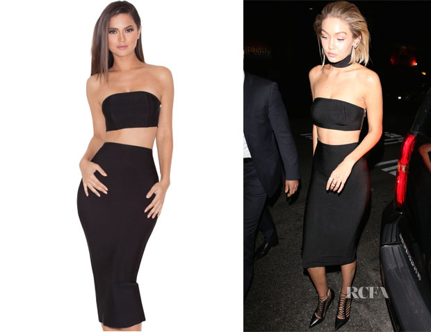 Gigi Hadid's House of CB 'Kiyoko' Black Bandage Two Piece