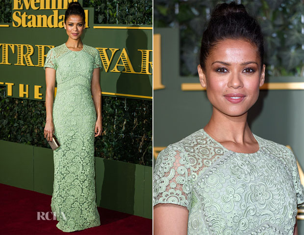 Gugu Mbatha-Raw In Burberry - The London Evening Standard Theatre Awards 2
