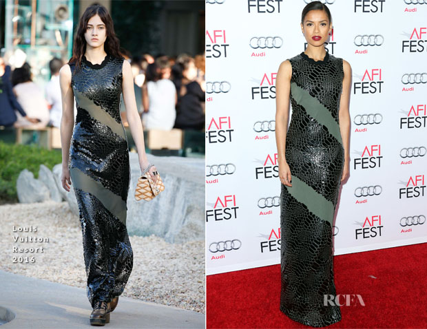 Gugu Mbatha-Raw In Louis Vuitton - 'Concussion' AFI FEST 2015 Premiere