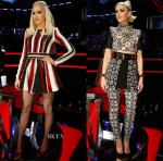 Gwen Stefani In Zuhair Murad & Fausto Puglisi - 'The Voice' Live Play Off