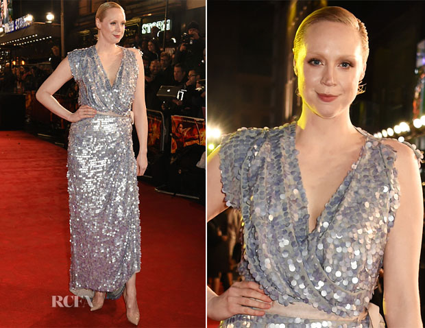 Gwendoline Christie In Vivienne Westwood Couture - 'The Hunger Games Mockingjay – Part 2' London Premiere