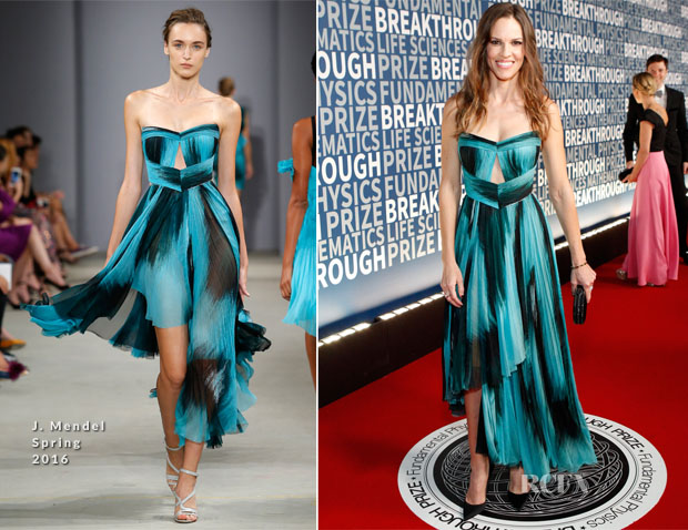 Hilary Swank In J Mendel - 2016 Breakthrough Prize Ceremony