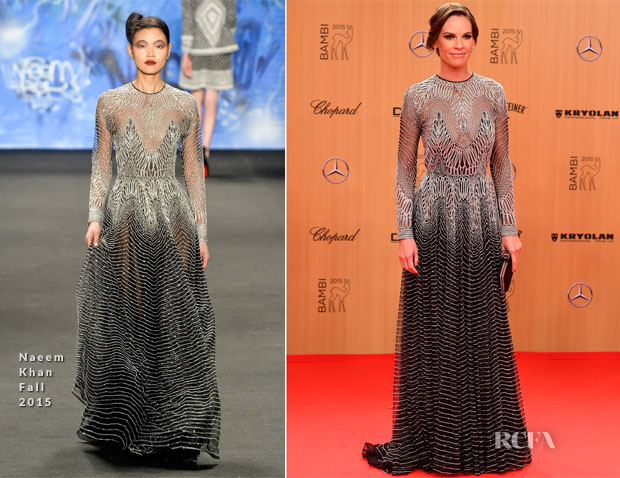 Hilary Swank In Naeem Khan - 2015 Bambi Awards