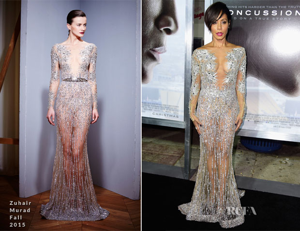 Jada Pinkett Smith In Zuhair Murad - 'Concussion' LA Screening