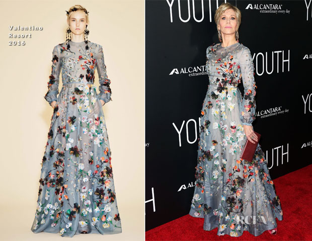 Jane Fonda In Valentino - 'Youth' LA Premiere