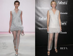 January Jones In Lela Rose - Fallout 4 Launch