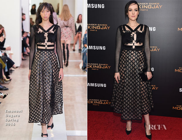 Jena Malone In Emanuel Ungaro - 'The Hunger Games Mockingjay – Part 2' New York Premiere