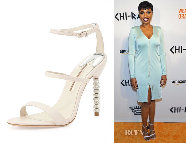 Jennifer Hudson's Sophia Webster Rosalind Crystal-Heel Leather Sandals