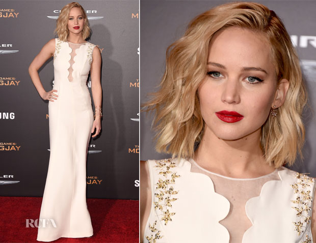 Jennifer Lawrence In Christian Dior - 'The Hunger Games Mockingjay – Part 2' LA Premiere