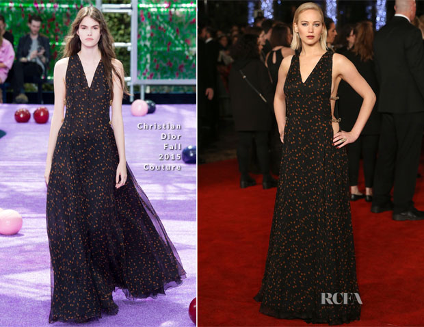 Jennifer Lawrence In Christian Dior Couture - 'The Hunger Games Mockingjay – Part 2' London Premiere
