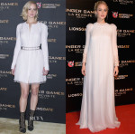 Jennifer Lawrence In Christian Dior Couture - 'The Hunger Games: Mockingjay Part 2' Paris Photocall & Premiere