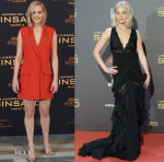 Jennifer Lawrence In Mugler & Ralph Lauren Collection - 'The Hunger Games: Mockingjay - Part 2' Madrid Photocall & Premiere