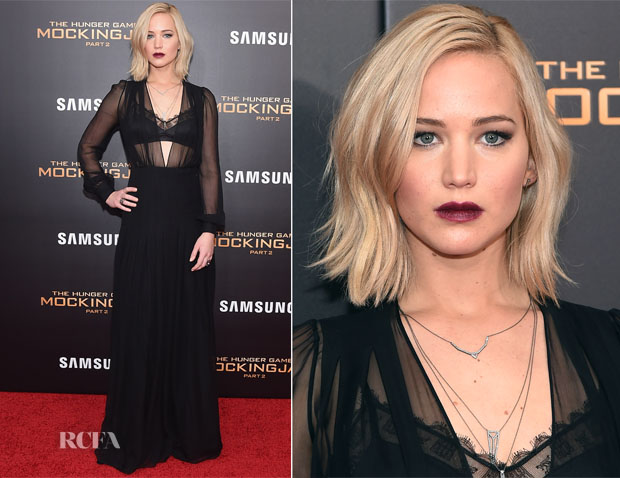 Jennifer Lawrence In Schiaparelli Couture  - 'The Hunger Games Mockingjay – Part 2' New York Premiere copy