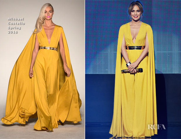 Jennifer Lopez in Michael costello amas