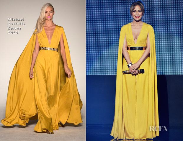 Jennifer Lopez in Michael costello amas