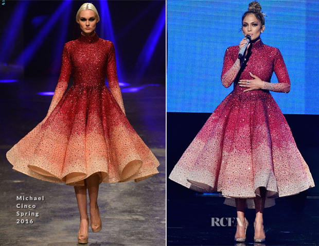 Jennifer Lopez in michael cinco spring 2016