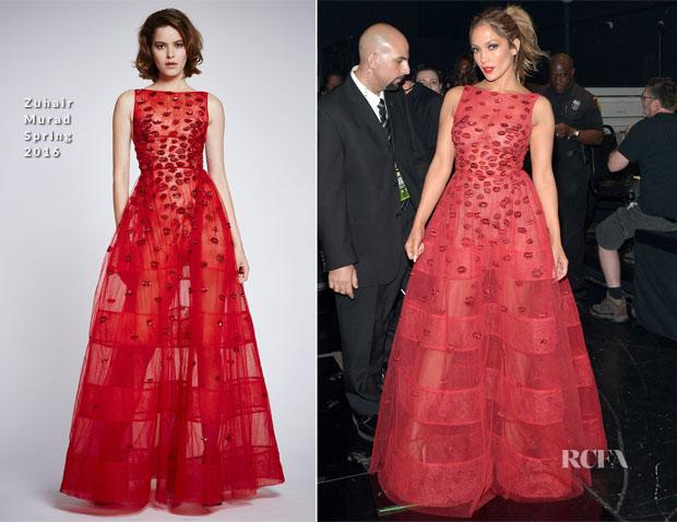 Jennifer Lopez in zuhair murad amas