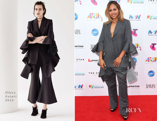Jessica Mauboy In Ellery - 2015 ARIA Awards