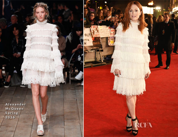 Julianne Moore In Alexander McQueen - 'The Hunger Games Mockingjay – Part 2' London Premiere