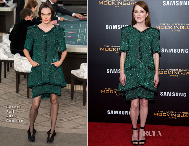 Julianne Moore In Chanel - 'The Hunger Games Mockingjay – Part 2' New York Premiere