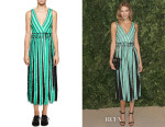 Karlie Kloss' Proenza Schouler  Sleeveless Wrap Midi Dress