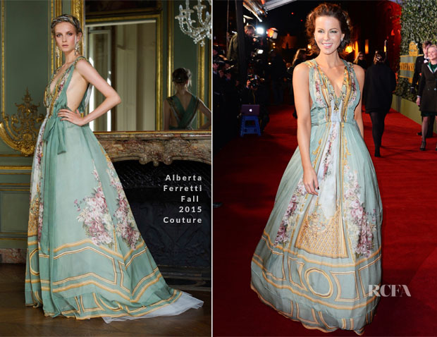 Kate Beckinsale In Alberta Ferretti Couture - London Evening Standard Theatre Awards