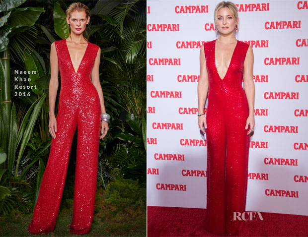 Kate Hudson In Naeem Khan - Campari Calendar 2016 Launch