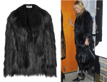 Kate Moss' Stella McCartney Faux Fur Coat