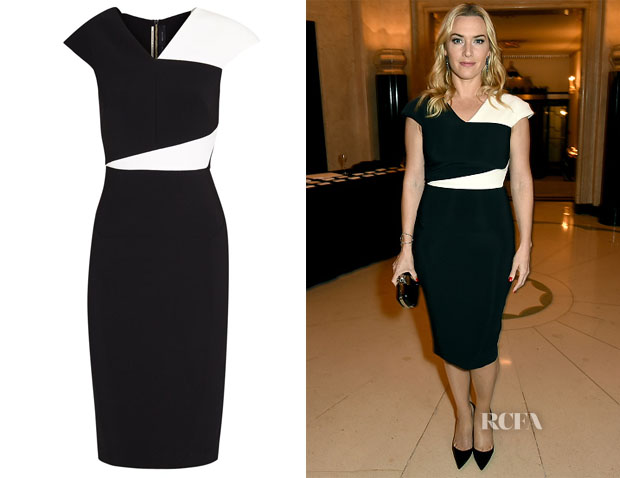 Kate Winslet's Roland Mouret Beadle Monochrome Crepe Dress