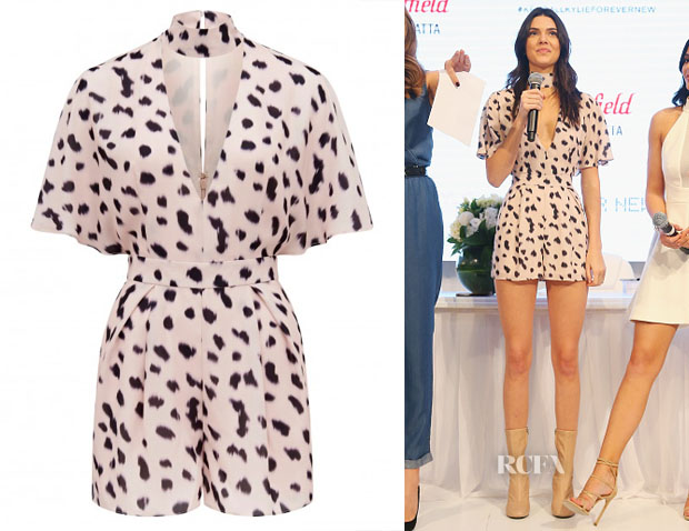Kendall Jenner's Forever New Printed Playsuit