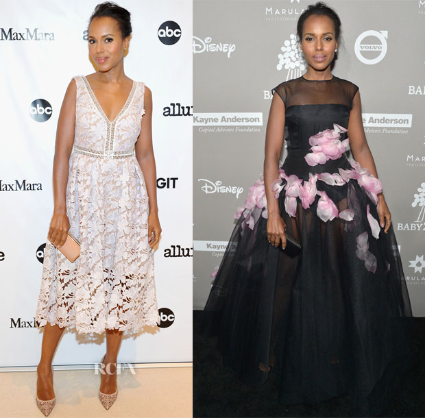 Kerry Washington In Self-Portrait & Giambattista Valli Couture - MaxMara & Allure Celebrate ABC's #TGIT & 2015 Baby2Baby Gala