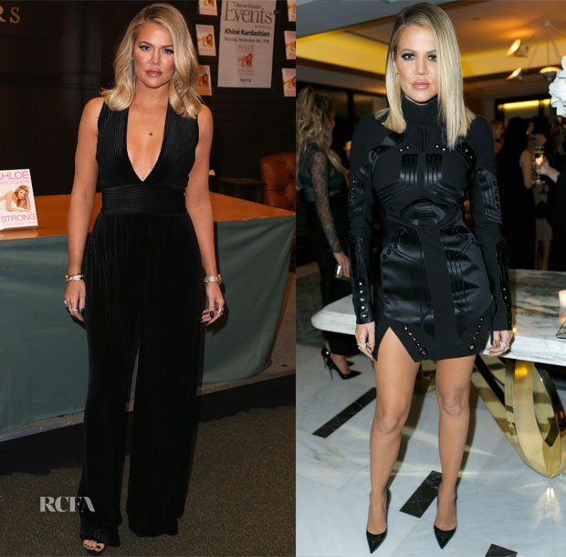 Khloe Kardashian In Balmain & Mugler - Book Signing & The Hollywood Reporter's Beauty Dinner