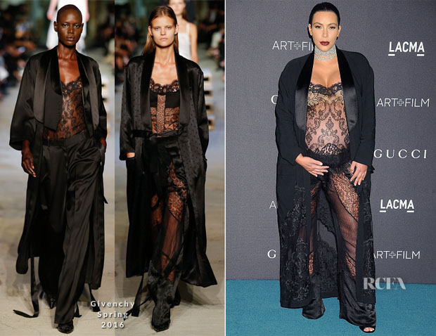 Kim Kardashian In Givenchy S16 - LACMA 2015 Art+Film Gala