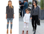 Kourtney Kardashian's Faithful The Brand Stevie Tilbury Stripe Shirt