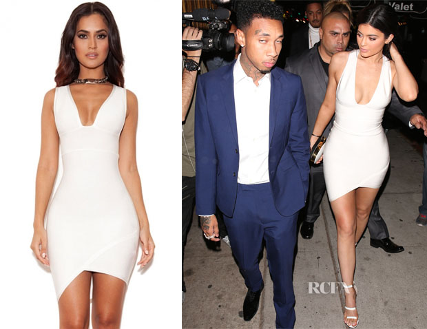Kylie Jenner's House of CB Sacha Bandage Deep V Dress