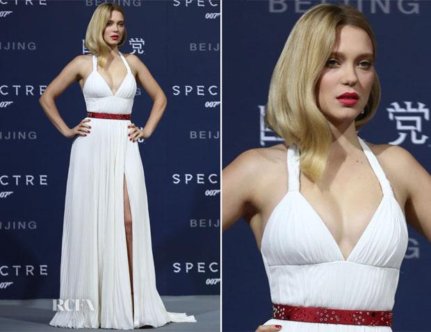 Lea Seydoux In Prada - \u0026#39;Spectre\u0026#39; Beijing Premiere - Red Carpet ...