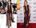 Melanie Laurent In Burberry Prorsum - 'By the Sea' AFI FEST 2015 Opening Night Premiere
