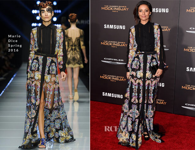 Meta Golding In Mario Dice -  'The Hunger Games Mockingjay – Part 2' LA Premiere