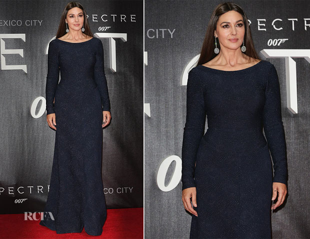 Monica Bellucci In Azzedine Alaïa - 'Spectre' Mexico City Premiere