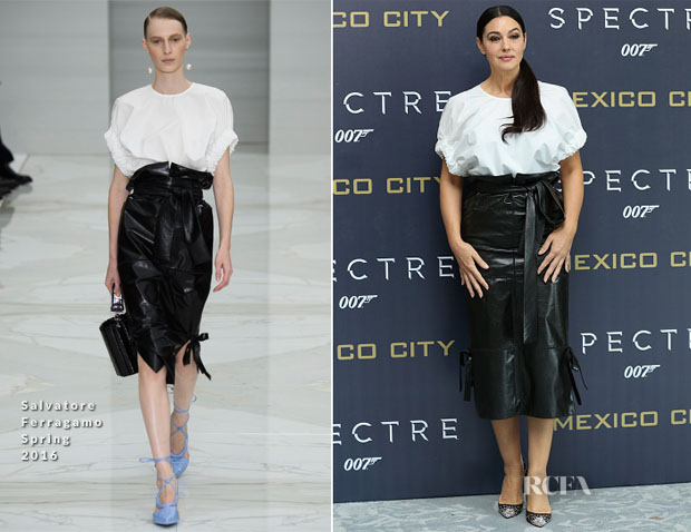 Monica Bellucci In Salvatore Ferragamo - 'Spectre' Mexico City Photocall