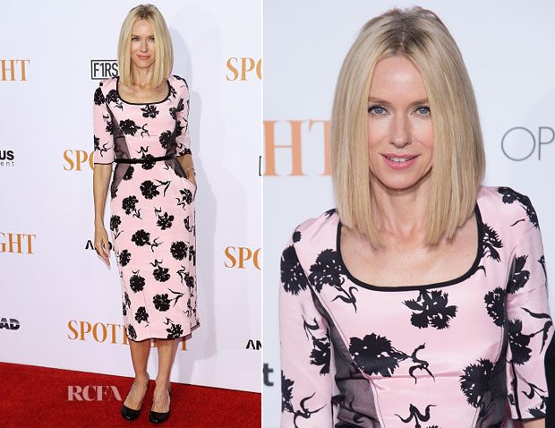 Naomi Watts In Oscar de la Renta - 'Spotlight' New York Premiere