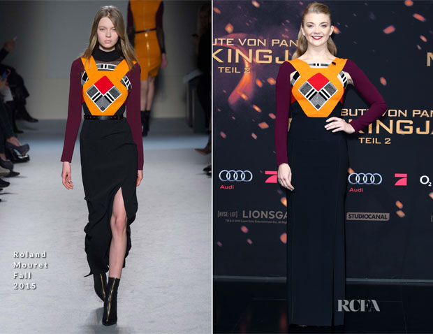 Natalie Dormer In Roland Mouret - 'The Hunger Games Mockingjay - Part 2' Berlin Premiere