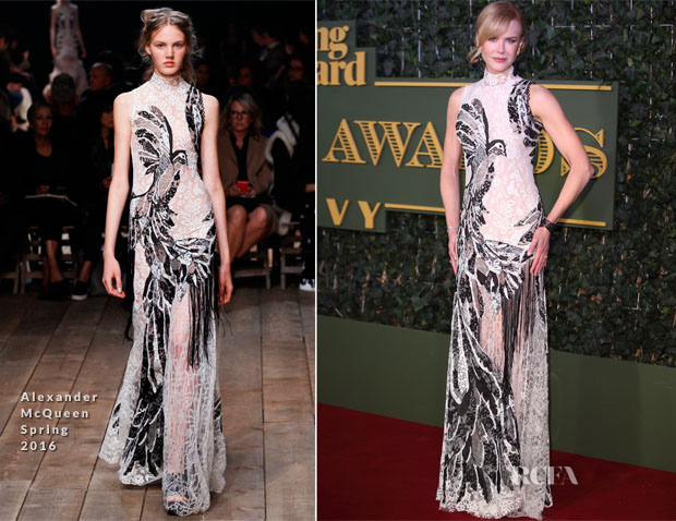 Nicole Kidman In Alexander McQueen - Evening Standard Theatre Awards
