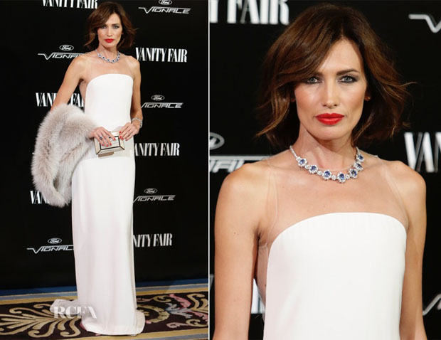 Nieves Alvarez In Stéphane Rolland Couture - Vanity Fair Awards