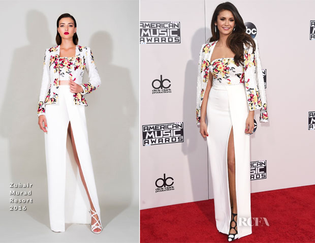 Nina Dobrev In Zuhair Murad - 2015 American Music Awards
