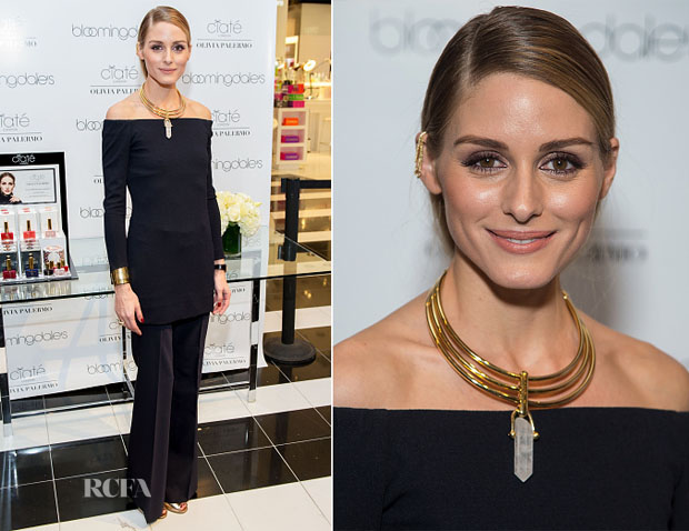 Olivia Palermo In Tibi - Ciate London Bloomingdale's Launch