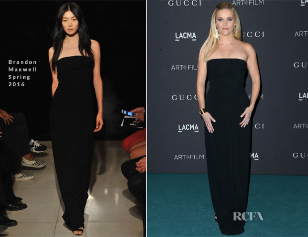 Reese Witherspoon In Brandon Maxwell - LACMA 2015 Art+Film Gala