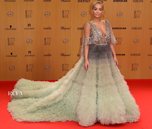 BERLIN, GERMANY - NOVEMBER 12:  Rita Ora attends the Bambi Awards 2015 at Stage Theater on November 12, 2015 in Berlin, Germany.  (Photo by Alexander Koerner/Getty Images for Aigner)