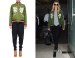 Rosie Huntington-Whiteley's Chloe Reversible Diamond-Quilted Leopard-Embroidered Jacket